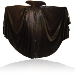 Satin Vampire Cape/ Cloak with Stand-up Collar