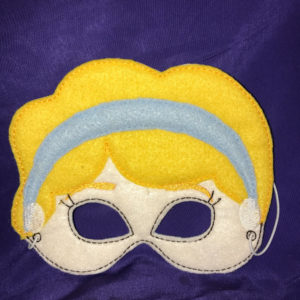 Embroidered Princess Felt Play Mask