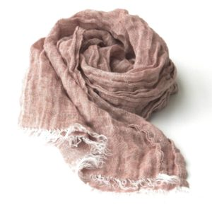 Light brown linen scarf