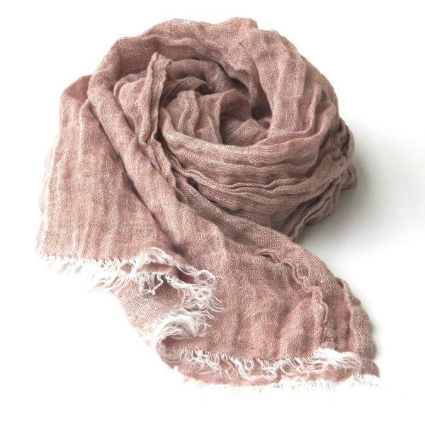 Light brown linen scarf