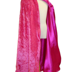Velvet and Satin Reversible Child's Play Cloak