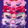 Embroidered Mermaid Felt Play Mask Party Pack (Set of 6)